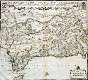 mapa granada y andalucia