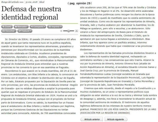 defensa identidad regional